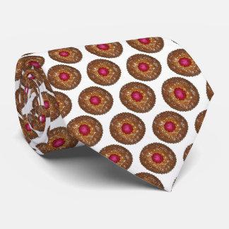 HimbeerenLinzer Torte-Weihnachtsplätzchen-Feiertag Individuelle Krawatte