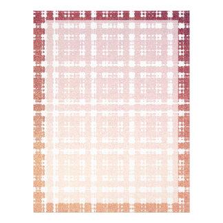 Himbeerrosa erröten modernes kariertes 21,6 x 27,9 cm flyer
