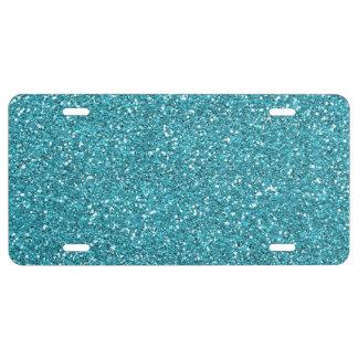Himmel-Blau-Glitter-Lizenz-Platte US Nummernschild