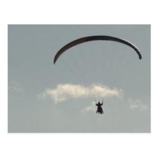 Himmel mit Paraglider, Freiheit, Paragliding Postkarte