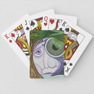 Himmel mustert Kunst-Plattform der Spielkarten