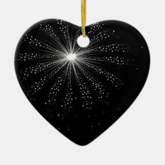 Himmel-Rocket-Explosion Keramik Herz-Ornament