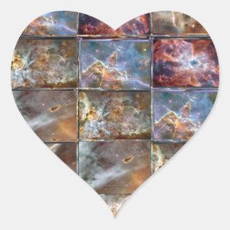 HIMMEL Wellen-Fliesen-Arbeits-Grafiken Herz-Aufkleber