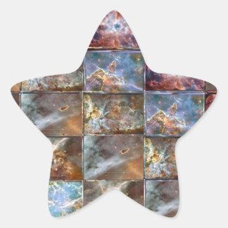 HIMMEL Wellen-Fliesen-Arbeits-Grafiken Stern-Aufkleber