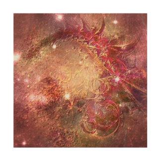 Himmlische abstrakte Malerei Holzleinwand