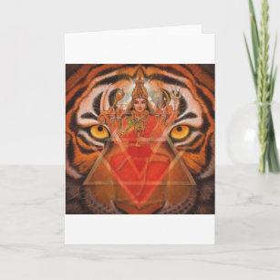 Hindische Göttin Durga, Kali starke Karte