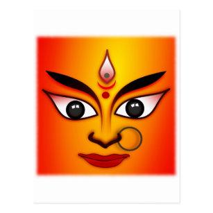 Hindische Göttin Durga Postkarte
