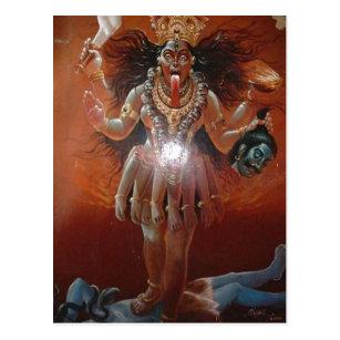 Hindische Göttin Kali der Beschreibung. Foto eine Postkarte