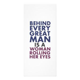 Hinter jedem großen Mann ist eine Frau, die ihre Werbekarte