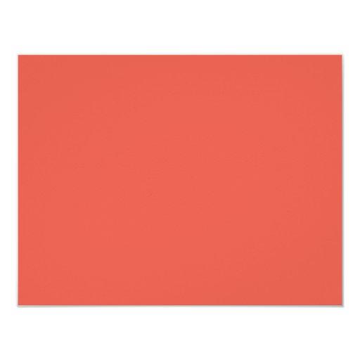 hintergrund farbe koralle 10 8 x 14 cm einladungskarte zazzle. Black Bedroom Furniture Sets. Home Design Ideas