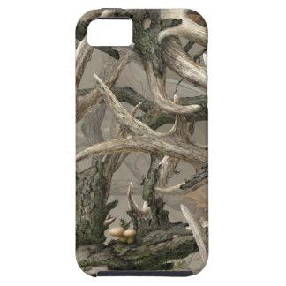 Hinterwälderrotwild-Schädel-Camouflage iPhone 5 Schutzhüllen