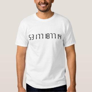 """""""HINTERWÄLDLER"""" - umgedrehte Taschenrechner-Wörter Shirt"""