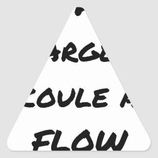 HIP-HOP: Das GELD LÄUFT AN FLOW - Wortspiele Dreieckiger Aufkleber