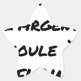 HIP-HOP: Das GELD LÄUFT AN FLOW - Wortspiele Stern-Aufkleber