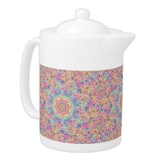 Hippie-Kaleidoskop-Muster-   Teekannen