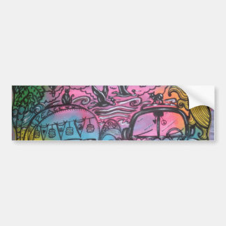 Hippie-Straßen-Reise-Autoaufkleber Autoaufkleber