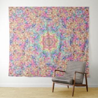 Hippie-Vintage Kaleidoskop-Wand-Tapisserie Wandteppich