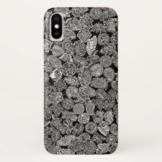Hippiestrandpositiver Schwarzweiss-Telefonkasten iPhone X Hülle