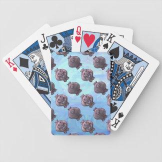 Hippopotamus-Kopf-und Schwanz-Muster Bicycle Spielkarten