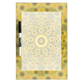 Hippy Sonnenblume-Fraktalmandala-Muster Memoboard