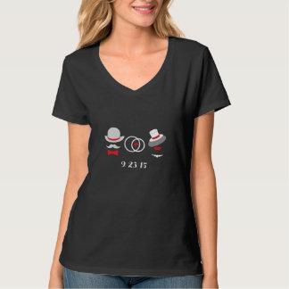 Hipster-Hochzeits-T-Shirt Behälter-Spitzen-Frauen T-Shirt