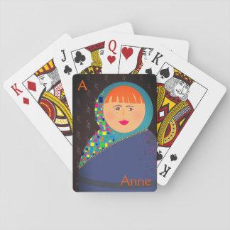Hipster moderne Matryoshka bunte russische Puppe Spielkarten