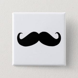 Hipster-Schnurrbart-Quadrat-Knopf Quadratischer Button 5,1 Cm