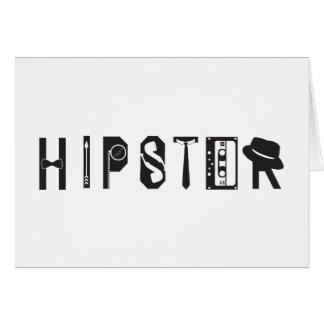 Hipster-Typografie-Indie städtische Karte