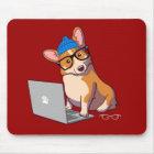 HipsterCorgi 2 (ohne Text) Mousepad