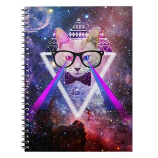 Hipstergalaxiekatze Notizbuch