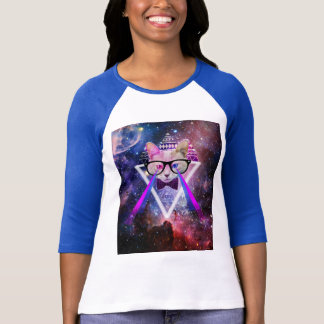 Hipstergalaxiekatze T-Shirt