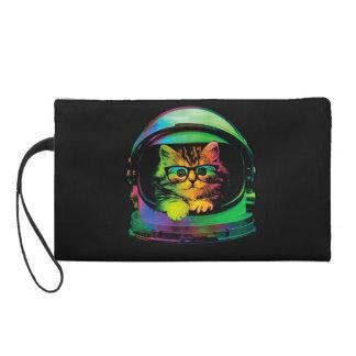 Hipsterkatze - Katzenastronaut - sperren Sie Katze Wristlet