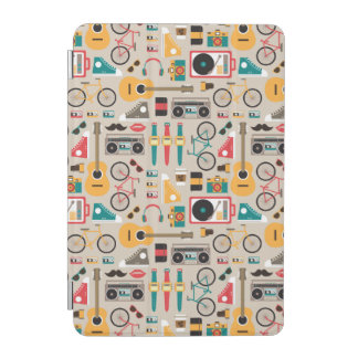 Hipsterrific Hipster-Sache-Muster (Cinereous) iPad Mini Cover