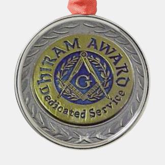 hiram_award.gif rundes silberfarbenes ornament