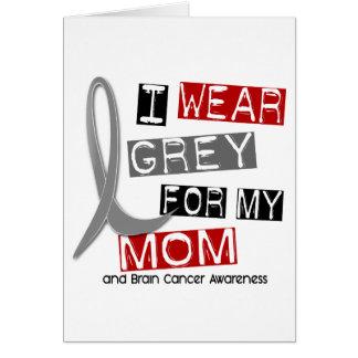 HIRNTUMOR I Abnutzungs-Grau für meine Mamma 37 Karte