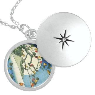 Hiroshige Mond über einer Sterling Silberkette