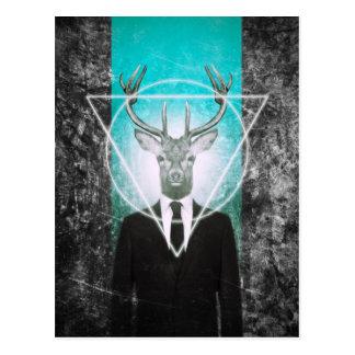 Hirsch im Anzug Postkarten