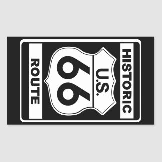 Historische Aufkleber des Weg-66