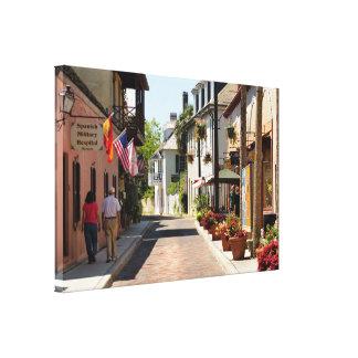 Historische Aviles-Straße Leinwanddruck