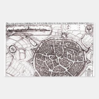 Historische Karte von Nordlingen, Deutschland im Rechteckiger Aufkleber