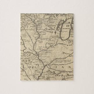 Historische llinois Karte von 1718 Puzzle
