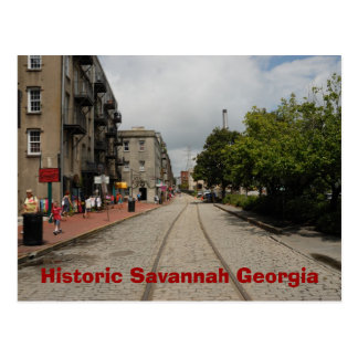 Historische Savanne Georgia Postkarte