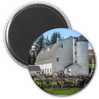 Historische Uniontown Washington Molkereischeune Runder Magnet 5,7 Cm
