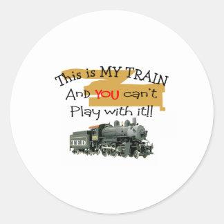 Historische Zug-Geschenke--Unglaublich witzig Runder Aufkleber