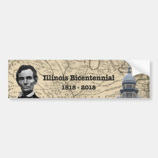 Historisches Illinois zweihundertjährig Autoaufkleber