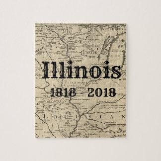 Historisches Illinois zweihundertjährig Puzzle
