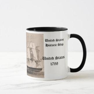 Historisches Schiff Vereinigter Staaten 1798 Tasse
