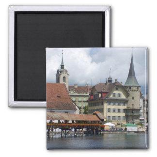 Historisches Stadtzentrum der Luzerne Quadratischer Magnet