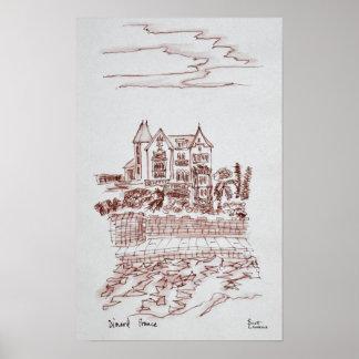 Historisches Villa  Heiliges-Enogat, Dinard, Poster