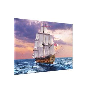 HMS-Sieg-Flaggschiff-Malerei-Leinwand-Druck Galerie Faltleinwand
